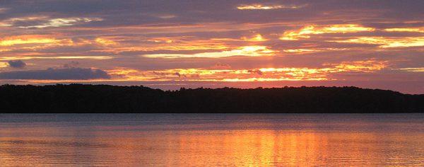 Big Blue Lake Sunset